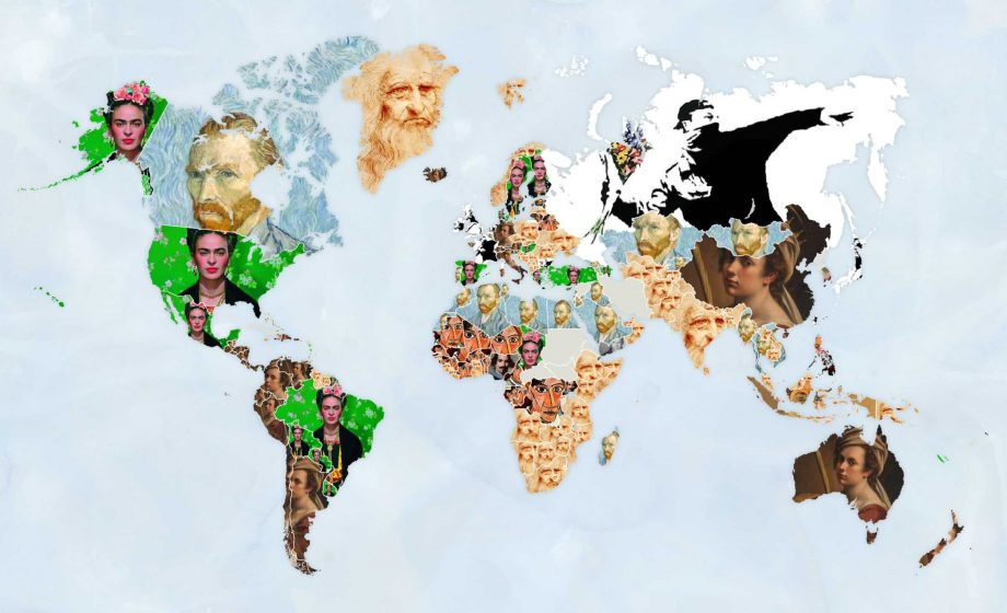 In search of art: Ken Bromley Art Supplies brings the most Googled artists of the pandemic together in new map series