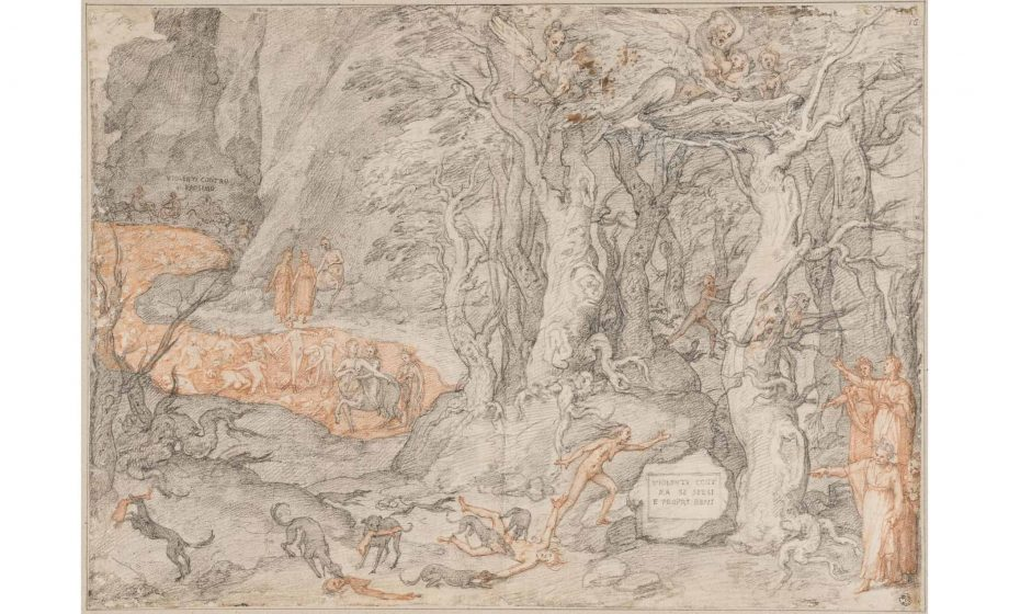 "Uffizi showcases 88 rarely seen illustrations of ""The Divine Comedy"" marking 700th anniversary of Dante's death"
