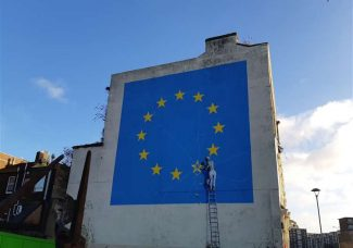 Banksy comments on the removal of 2017 Brexit mural