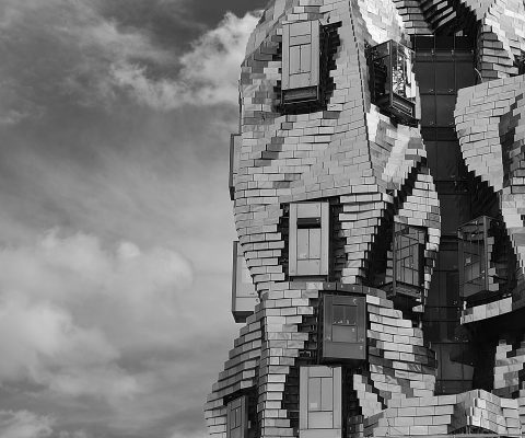 Frank Gehry's twisting aluminium tower for Luma Arles