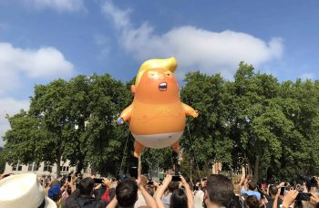 As Trump exits the White House, the Trump baby balloon enters the Museum of London