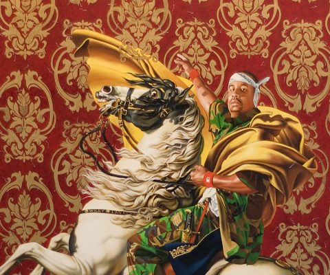 Portraits inspired by Napoleon by Kehinde Wiley and Jacques-Louis David come together for the first time ever