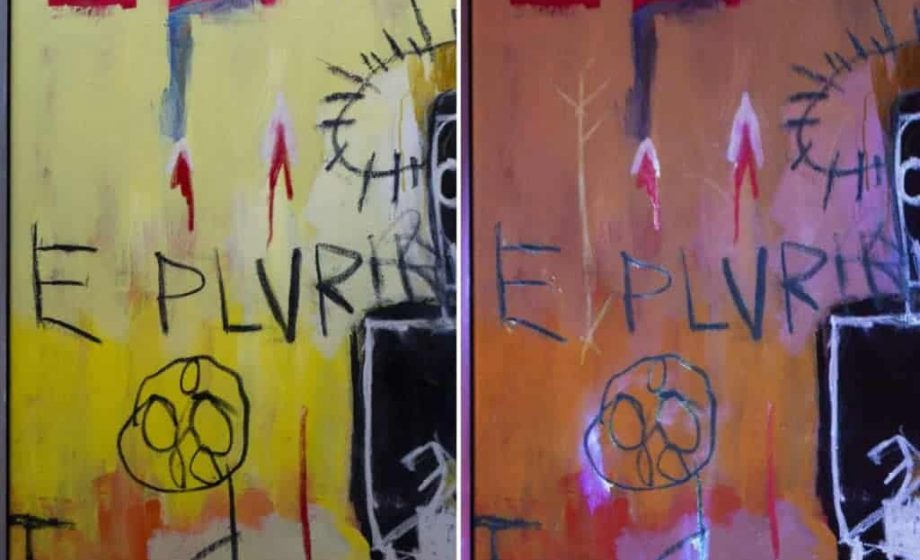 Conservator finds UV images in Jean-Michel Basquiat painting
