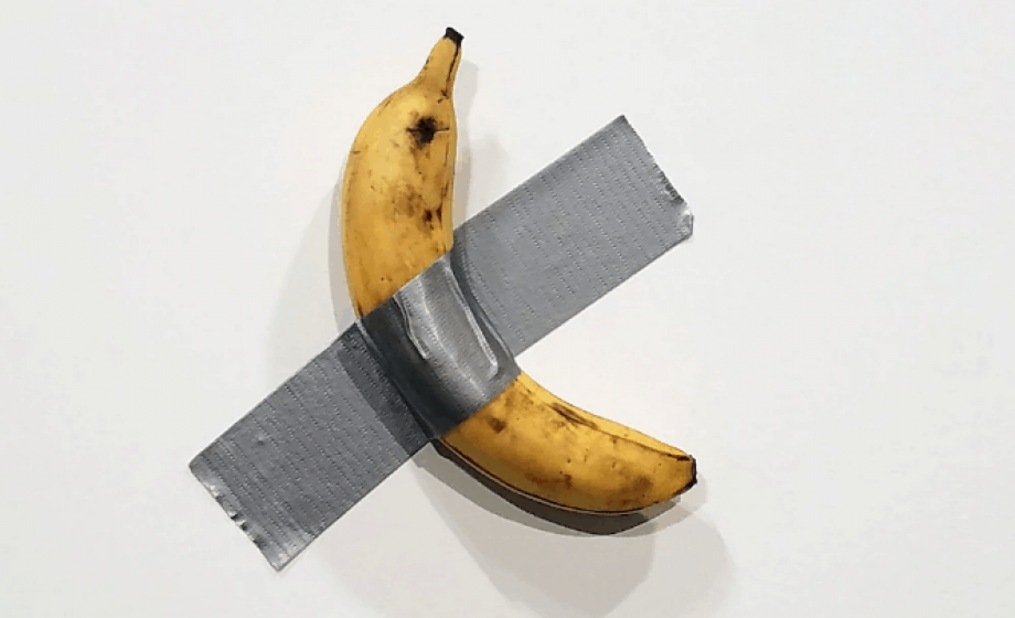 An artist walks into Art Basel Miami Beach and eats a banana…