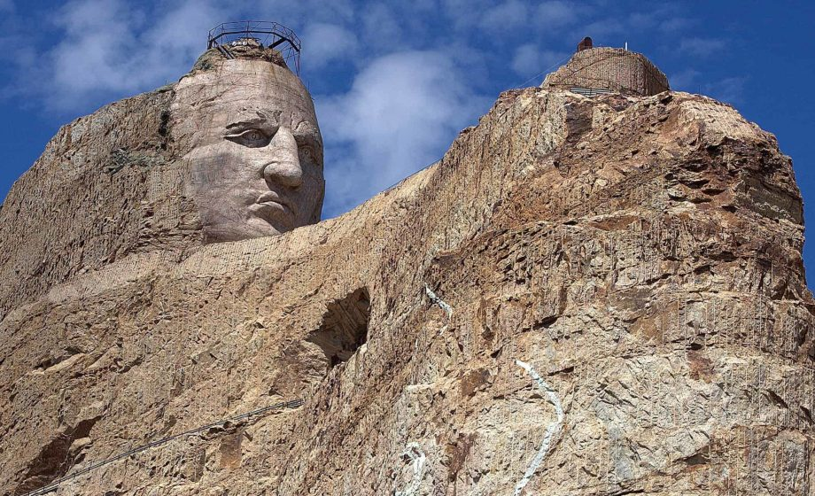 A brief look at the Crazy Horse Memorial taking shape in South Dakota