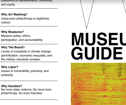 Fake museum guides spread information on 'The Crisis at The Whitney'