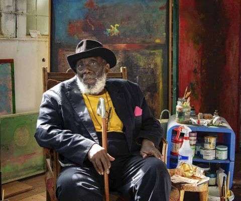 Artist Frank Bowling, 86, knighted by Queen Elizabeth