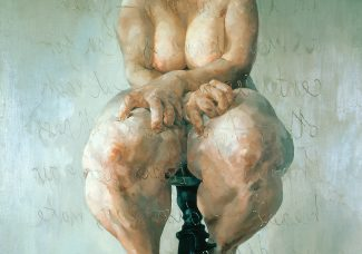 """Jenny Saville's """"Propped"""": Female Worth in the Art Market"""