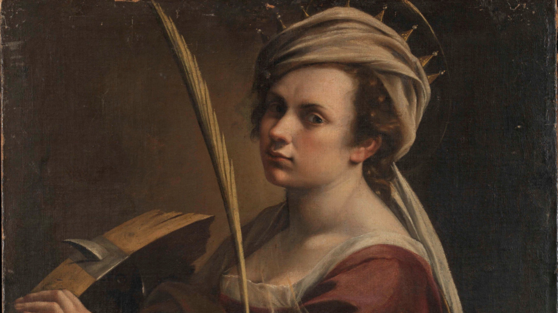 A closer look on Gentileschi's Self-Portrait as Saint Catherine of Alexandria