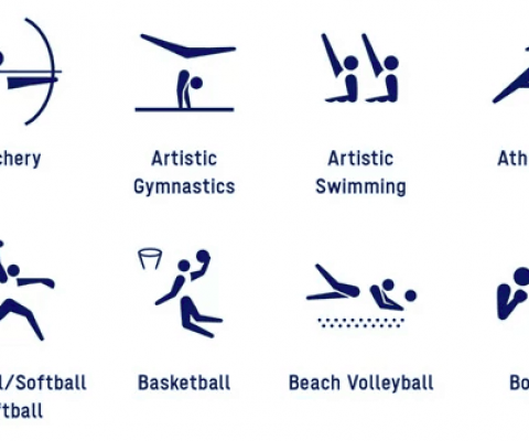 The Olympic pictograms get back to their roots