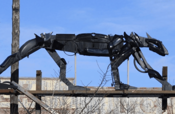 Montreal artist Junko manifests creatures from repurposed garbage