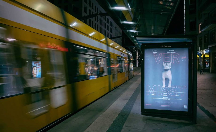 Artist Emeka Ogboh uses unique poster series to highlight repatriation in Dresden