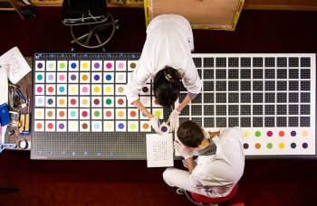 MSCHF cut up a $30,000 Damien Hirst spot painting