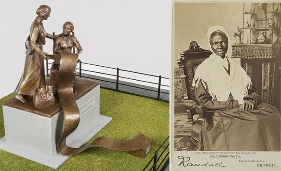Statue honouring suffragettes redesigned to include Sojourner Truth