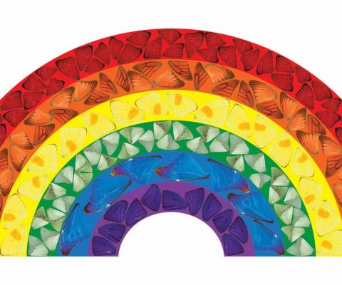 Damien Hirst spreads hope with Butterfly Rainbow to show solidarity with NHS