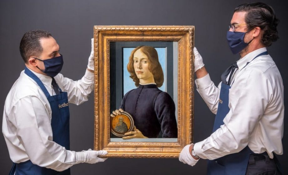 Botticelli painting fetches record $92m at auction