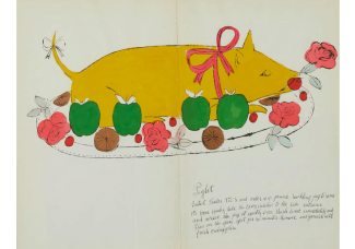 """Satirical cookbook by Andy Warhol, including recipes like """"Omelet Greta Garbo"""", heads to auction"""