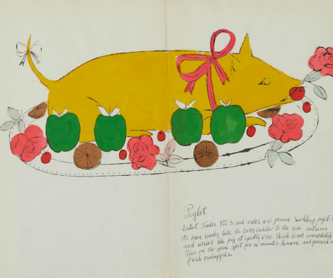 "Satirical cookbook by Andy Warhol, including recipes like ""Omelet Greta Garbo"", heads to auction"