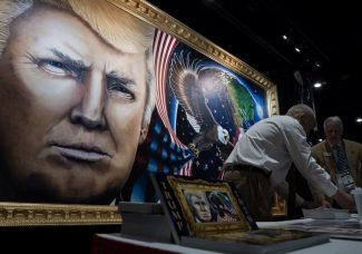 Could a painting of Donald Trump go to the Supreme Court?