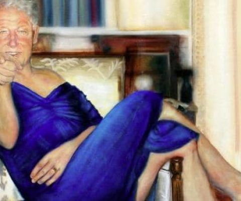 The artist behind Jeffrey Epstein's portrait of Bill Clinton in a dress speaks out