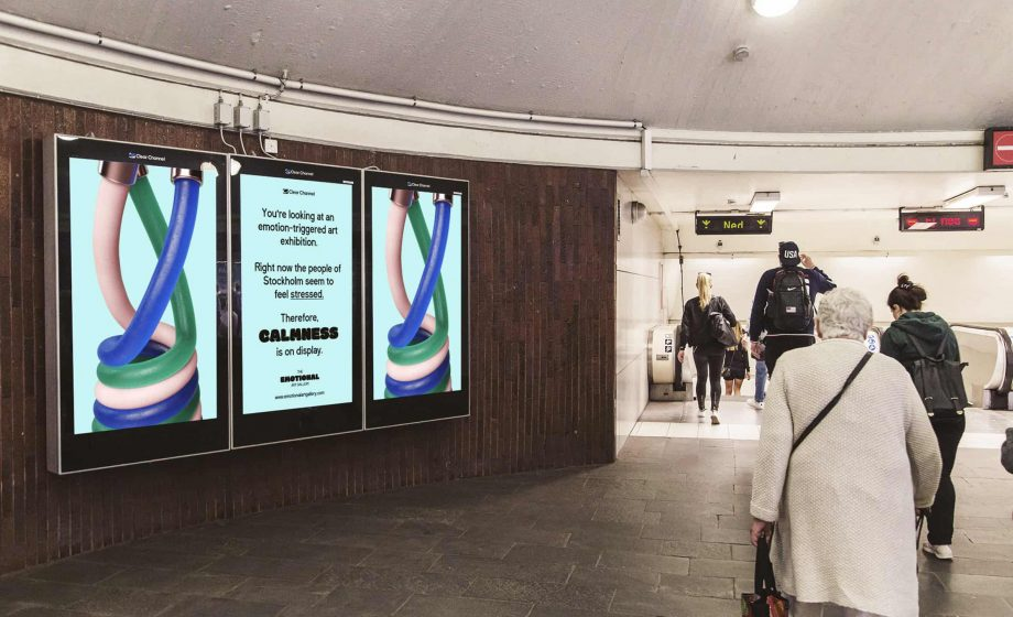 Stockholm's metro stations turn into one large digital art gallery