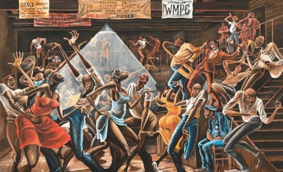 'Ernie Barnes: A Retrospective' opens today at the California African American Museum