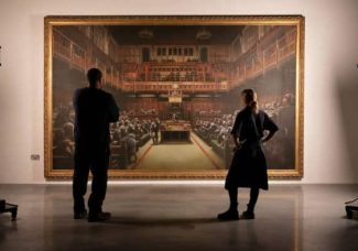Banksy's 'Devolved Parliament' is heading to Sotheby's prior to Brexit day
