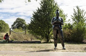 "Thomas J Price unveils statue in London representing the Black ""everywoman"""