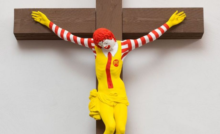 McJesus sculpture at Haifa Museum of Art sparks violent protests