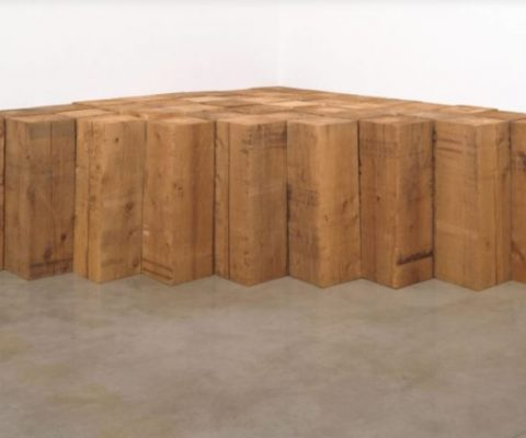 Carl Andre's horizontal sculptures