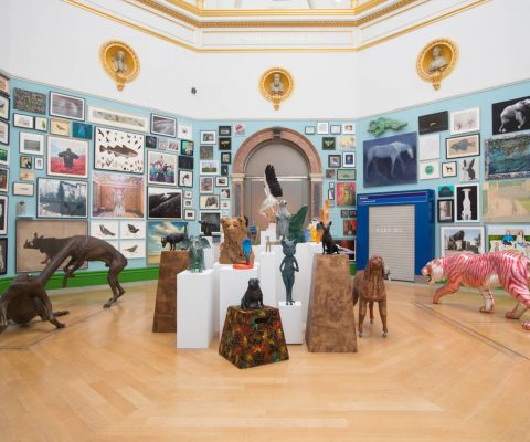 Banksy's anti-Brexit artwork at the RA's Summer Exhibition