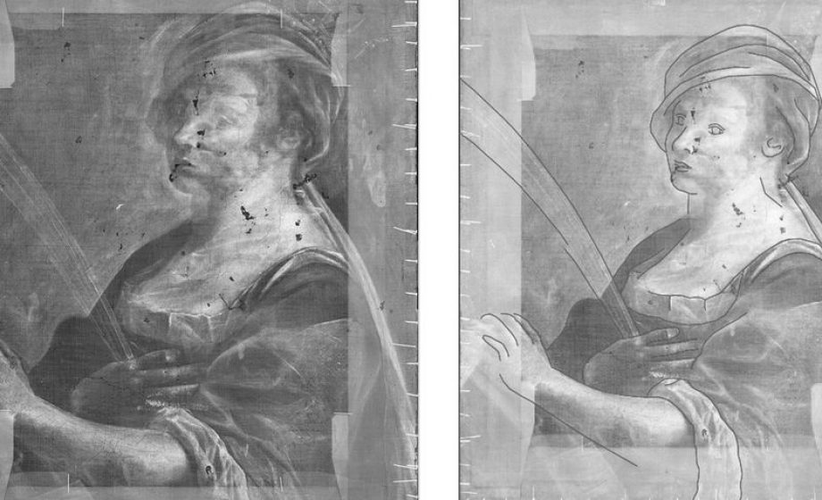 X-Ray reveals self-portrait hidden under Artemisia Gentileschi painting